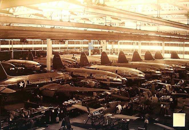C-46s and P-40s in factory