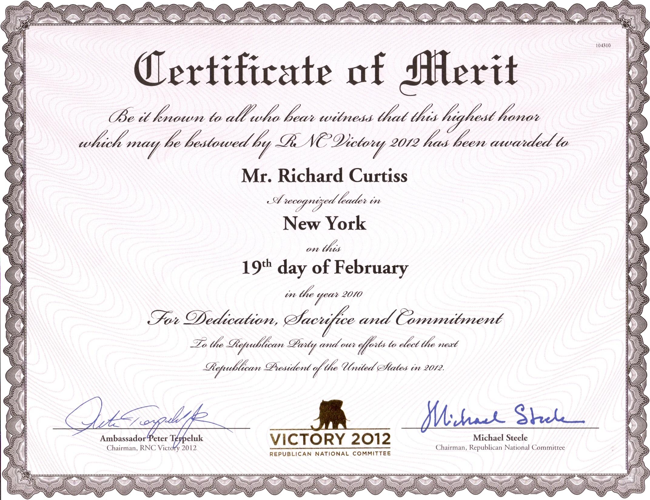 certificate of merit template certificate template merit award kid