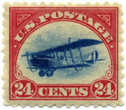 1918 US Stamp Curtiss Jenny