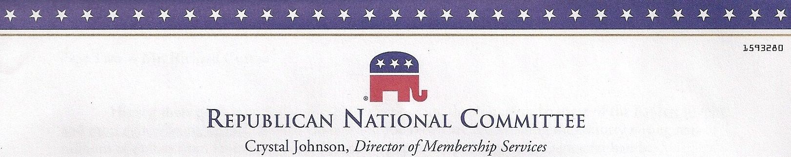 Republican National Committee letterhead