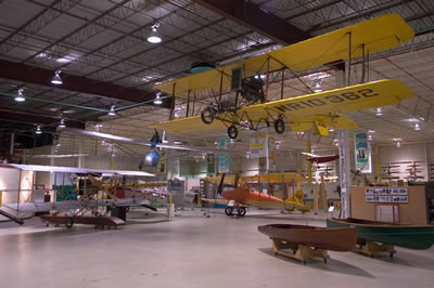 Planes on display in Curtiss Museum